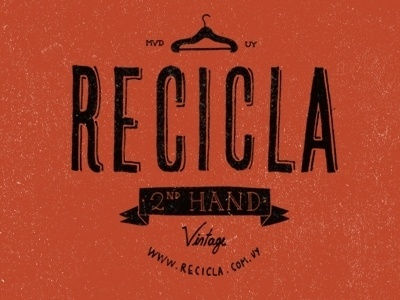 Dribbble - Recicla by Martin #mark #recycle #clothes #second #vintage #logo #hand
