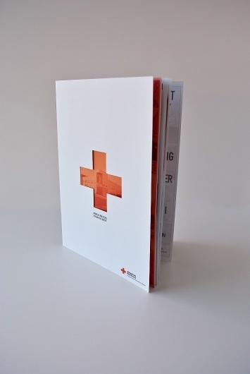 Mike Smith #die #cut #red #cross #design #brochure
