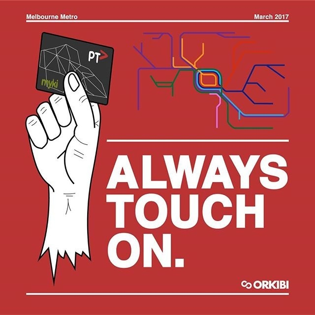 When Public transport starts getting serious and ticket inspectors start taking hands. #ptv #melbourne #publictransport #graphicdesign #grun