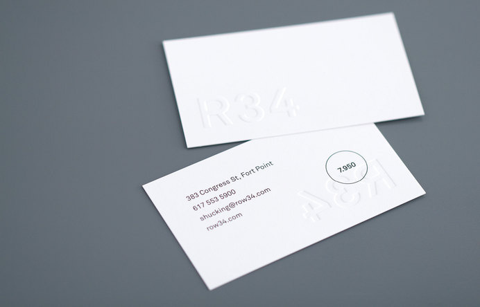 Row 34 Business Card #card #print #embossed #business