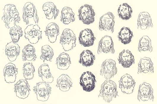 beards.jpg (700×466) #illustration #beard #sketch