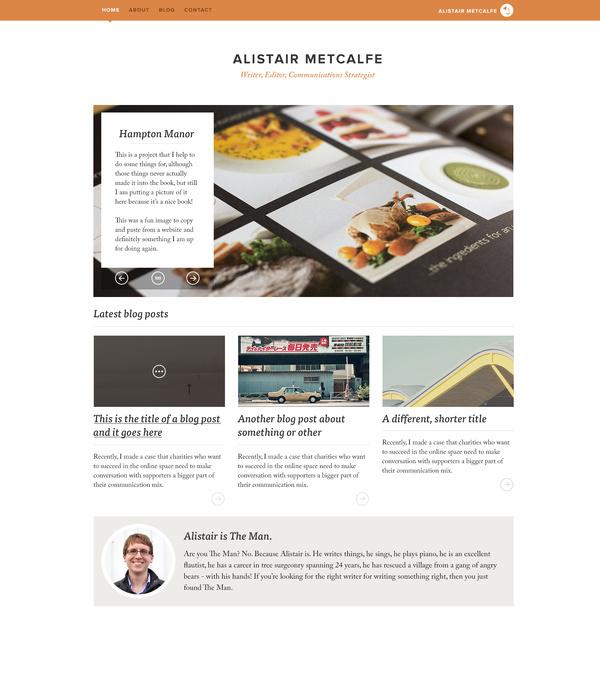 Al's Website.jpg #creative #homepage #food #website #message