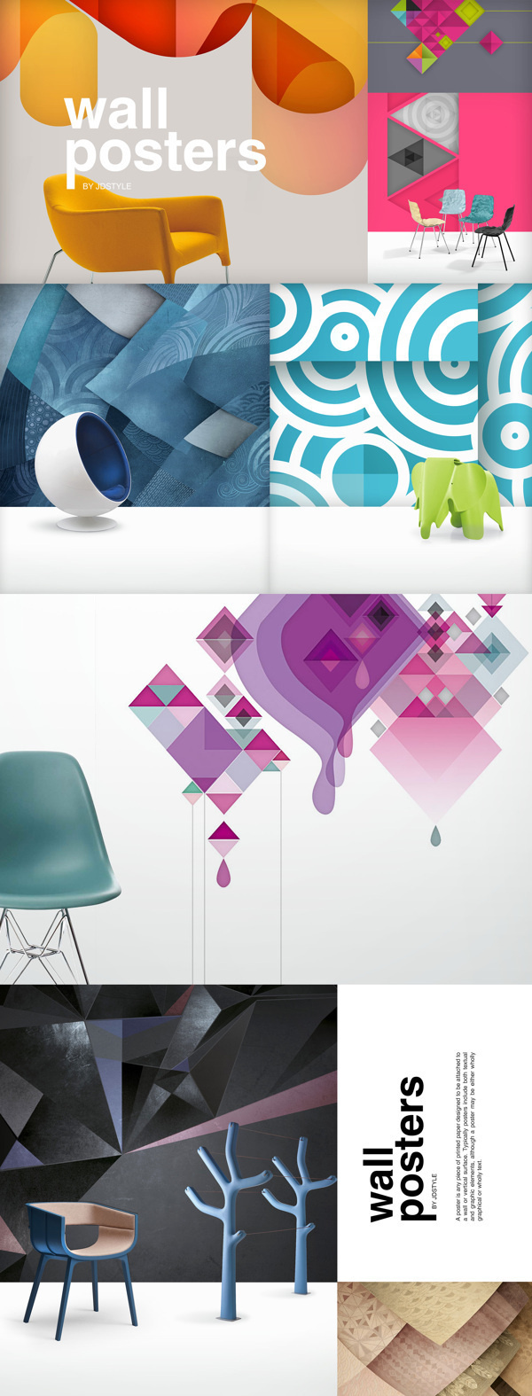 Wall posters on Behance #chair #design #illustration #wall #posters #jdstyle