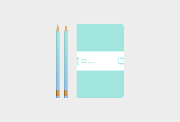 Andrea Sopranzi by Andrea Sopranzi #graphic design #stationary #print #gradient