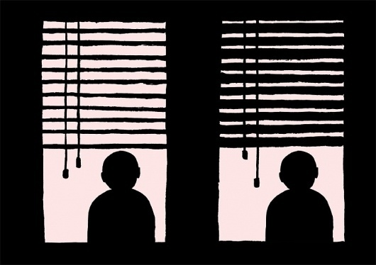 Jean Jullien's online portfolio: SILOUETTES #jean #jullien #silhouette #blinds