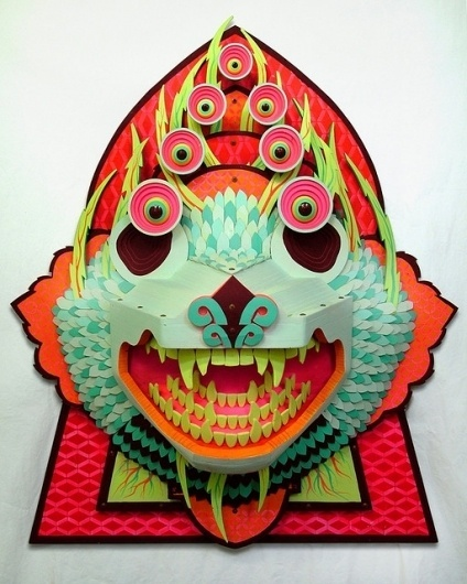 AJ Fosik's 3D Wood Pieces aj fosik 2 – Trendland: Fashion Blog & Trend Magazine #wood #sculpture #demon