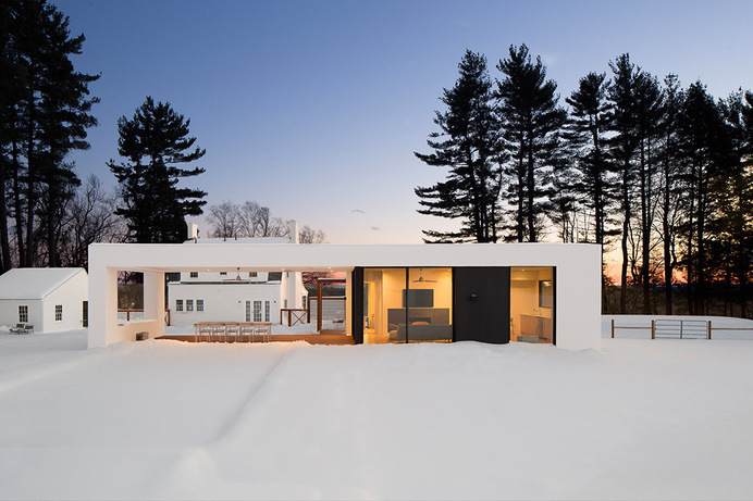 Modern All-White Country House for the Weekends by LABhaus #architecture #modern