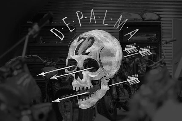 BMD Hand drawn logo #lettering #bmd #depalma #brush #skull #hand