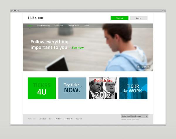 Tickr App and Homepage 2012 on Behance #website #design #web