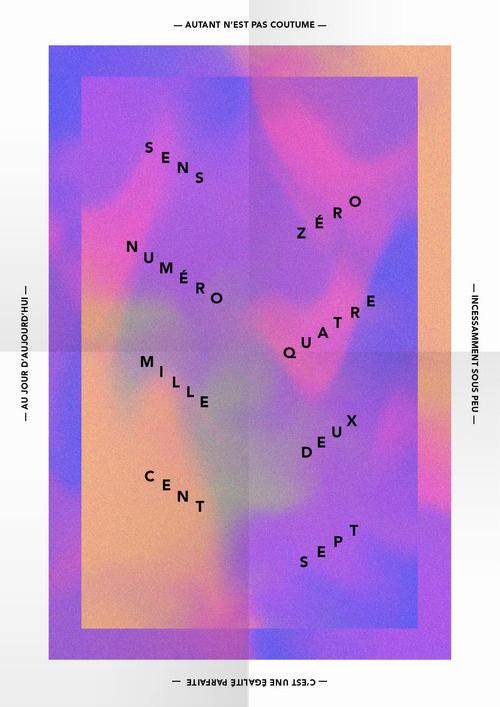 affiche #staircase #affiche #design #gradient #poster #typography
