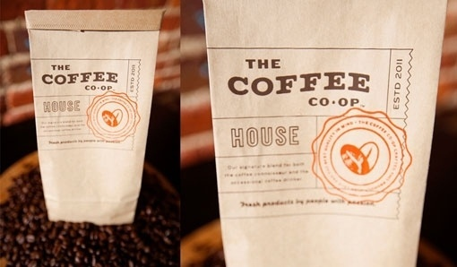 design work life » cataloging inspiration daily #packaging #type #orange #coffee