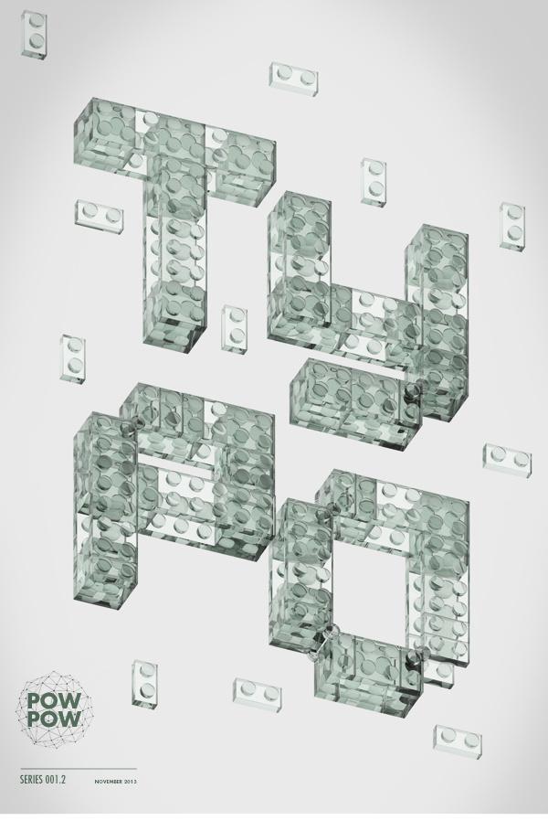 Type Series 01 #design #graphic #digital #vray #cinema #poster #4d #type #typography