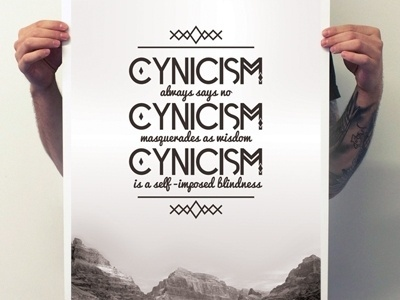 Dribbble - Cynicism Type Poster by Sam Stratton #vintage #poster #typography