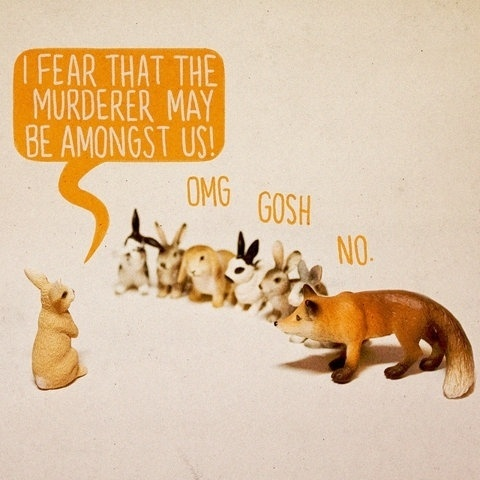 FFFFOUND! | Murder Mystery | Flickr - Photo Sharing! #illustration #animals