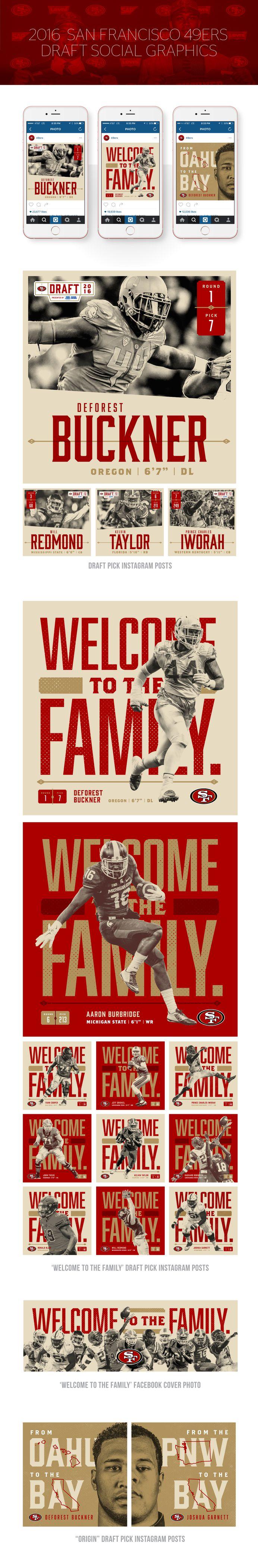 2016 49ers Draft Social Graphics on Behance