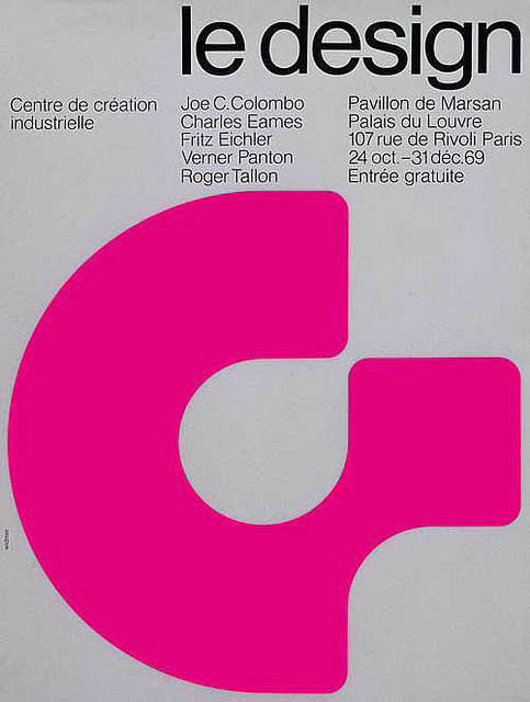 Poster designed by Swiss designer Jean Widmer for Centre de Creation Industrielle. Circa 1969-1972 #poster