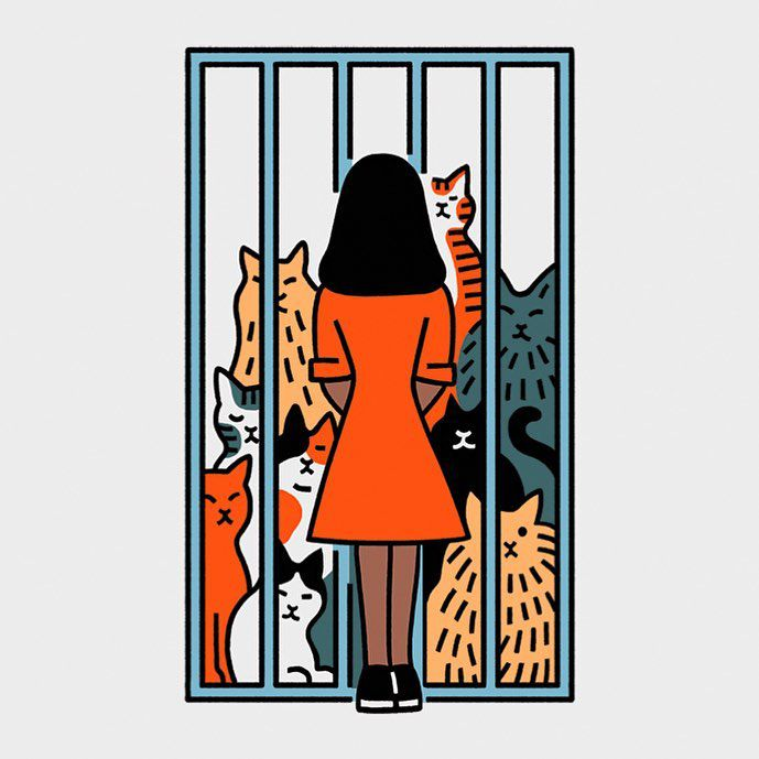 """For this week's Ethicist """"Should I get a pet from a no-kill shelter?"""" For @nytmag Art directed by Chloe Scheffe"""