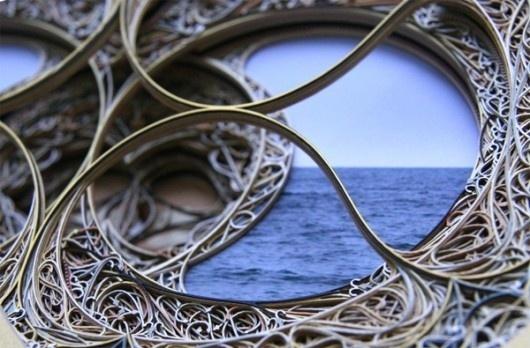 Cut Paper Sculptures look like 3D Stained Glass | WANKEN - The Art & Design blog of Shelby White #cut #sculpture #laser #art #paper