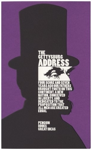 The Book Cover Archive: The Gettysburg Address, design by David Pearson #cover #book