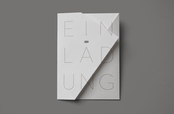 LES AMBASSADEURS, opening invitation on Behance #invite #fold #folding #minimalist