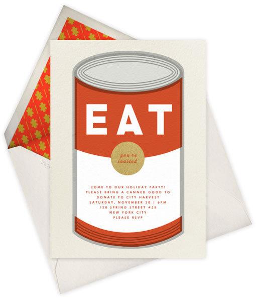 soup can #illustration #letterpress