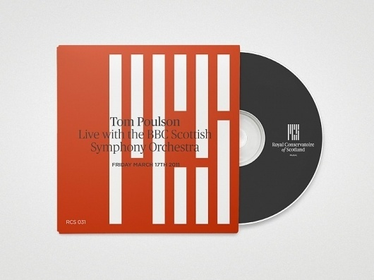 A Not Conservative Conservatoire - Brand New #design #graphic #sleeve #scotland #record #brand #identity #music