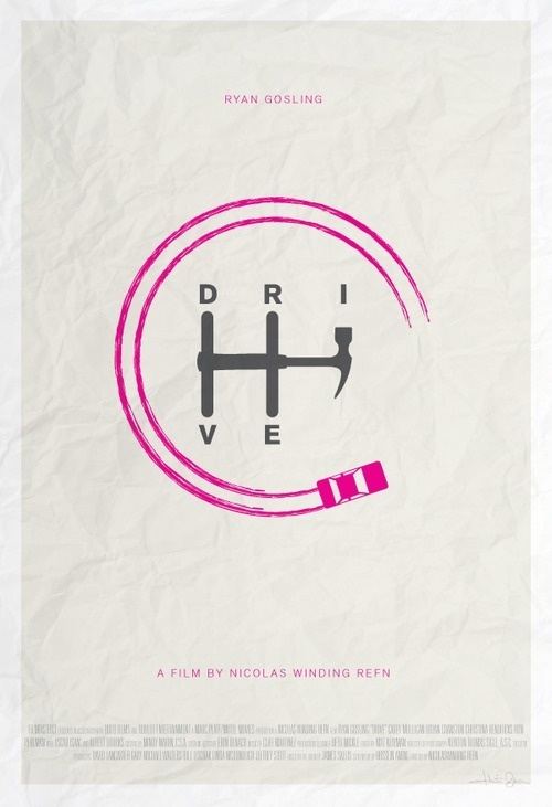 Minimal Drive Poster #inspiration #creative #movie #design #minimal #poster