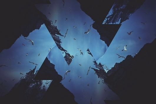 All sizes | Untitled | Flickr - Photo Sharing! #mountain #seagul #sky #triangle #distortion #sea