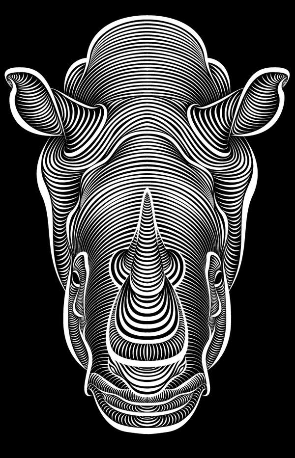 Faces on Behance #illustration