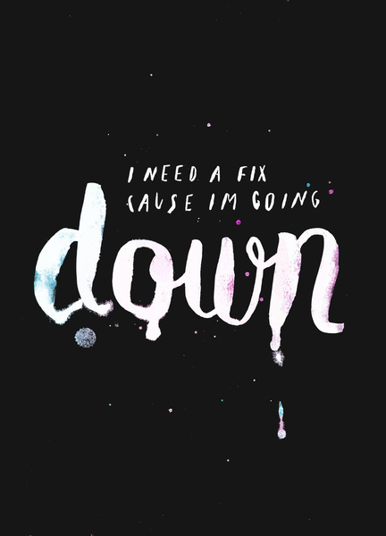 Going Down Art Print #inspiration #beatles #lettering #a #quote #gun #hapinness #is #warm #hand #typography
