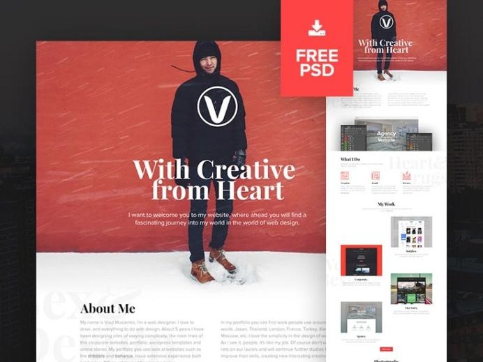 Creative Personal PSD Website Template