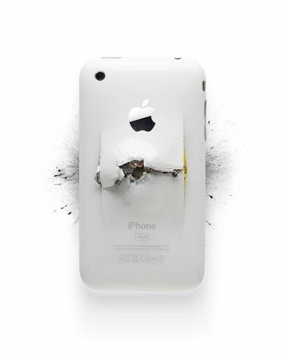 Apple Destroy in defringe.com #apple #defringe #destroy #iphone #photography #bullet