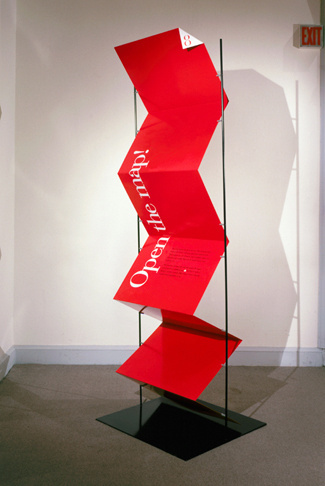 Pentagram #exhibition #signage #folds