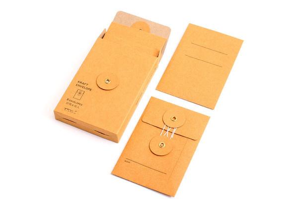 SECRET INVITES TO MEETINGS:Midori Kraft Envelope Vertical String (Envelopes)   Stationery   Vetted #envelope