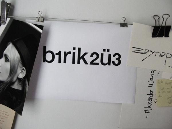 b1rik2ü3 logotype design for Zeynep Yener #logotype #b1rik23 #istanbul #company #numbers #editor