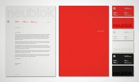 Onestep Creative - The Blog of Josh McDonald » Neublok Branding by Neografik #continuity #paperwork #identity #branding