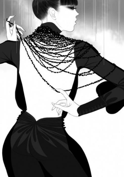Choon Fai Yip #white #black #illustration #and #fashion