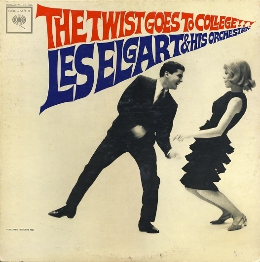 All sizes | Les Elgart - The Twist Goes To College | Flickr - Photo Sharing! #album #record #cover #1960s #illustration #artwork