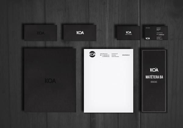 KOA IDENTITY #white #branding #print #black #wood