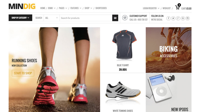 Flat Ecommerce theme perfect for your online store.
