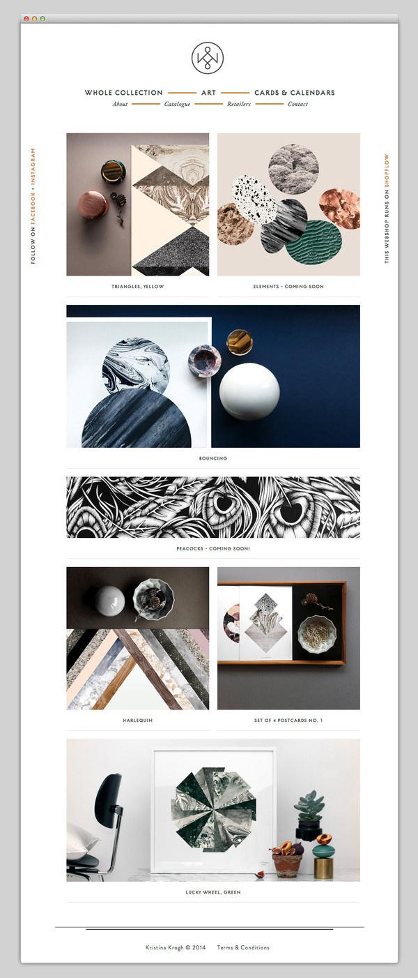 Kristina Krogh Studio #website #layout #design #web