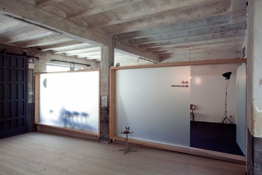 Abandoned Garage became Madrid's Hub Offices | Interiors Design SEB: wall frames #interior #wood #design #renovation