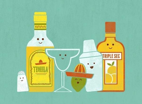 Margarita! Art Print by Teo Zirinis | Society6 #tequila #teo #zirinis #characters #cocktails
