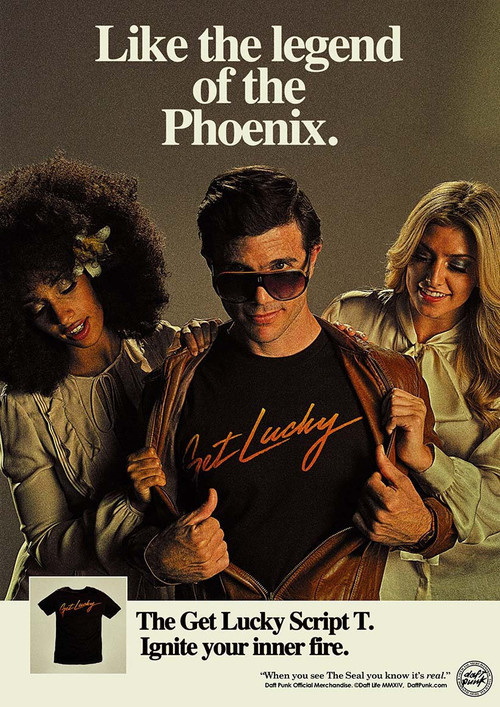 Retro Daft Punk Merchandise Ad #punk #design #graphic #retro #advertising #daft #vintage #poster #ad #typography