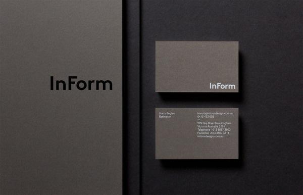 InForm #business #print #minimal #stationery #cards #typography
