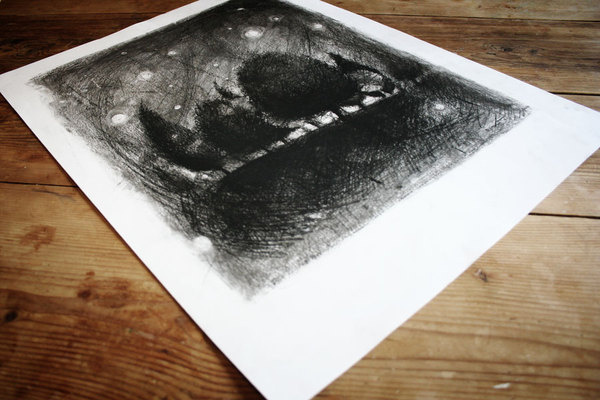 Graphic ExchanGE a selection of graphic projects #charcoal #drawing
