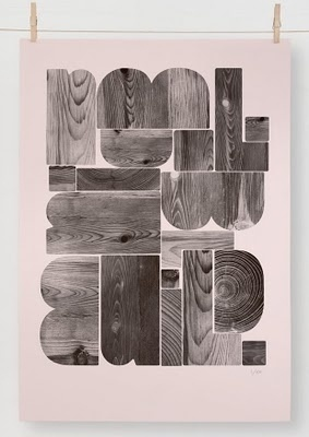 The Best Part - A Daily Art and Design Blog: Editions of 100 #wood #posters #typography