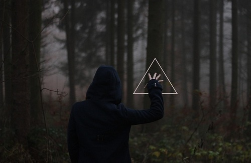 rednaj: #woods #triangle #photography #graphics #forest #hood #trees