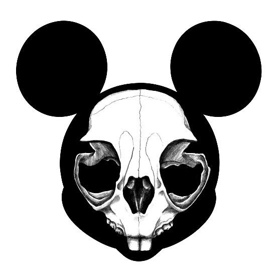 Mickey? #mickey #mouse #graphite #horror #disney #skull #fun #animal