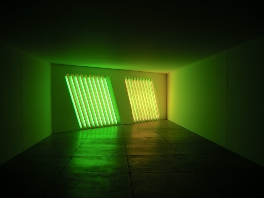 Untitled - Flavin, Dan - Conceptual art - Installation - Abstract - TerminArtors #sculpture #fluorescent #lights #colour #light #flavin